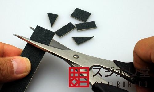 画像: 木の板に貼り付けたヤスリ 面出しヤスリ 1000番